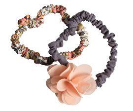 Maileg Haarelastiek fluffy bloem roze set van 2 | Maileg | Kdootjes - Leuke en originele kadootjes, speelgoed, gadgets, tassen, portemonnees en lifestyle artikelen