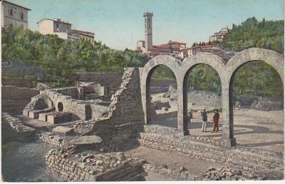 Modesto Modi Postcard - Fiesole -Terme Romane c1909