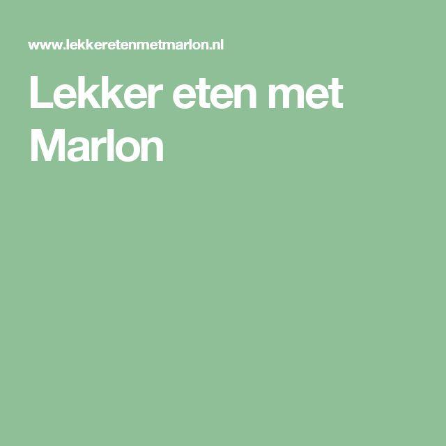 Lekker eten met Marlon