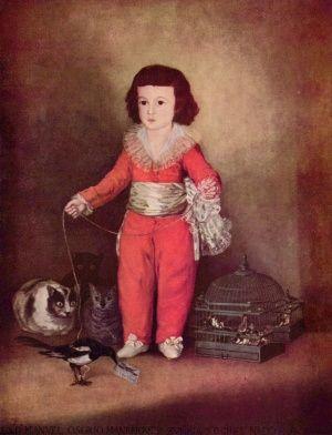 Франциско Гойя, рисуя кошку, желал показать хищные инстинкты («Дон Мануэль Озорио де Зуньига. Ребёнок», ок. 1787 г).