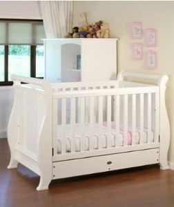 Super Nanny 4 in 1 Sleigh Cot Bed - White Available at www.babies.co.nz