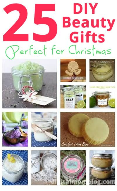 25 Beauty DIY Gifts Perfect for Christmas #diy #christmas #gifts #beauty