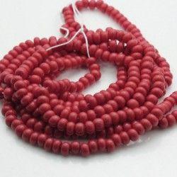 Czech Seed Beads Size 6/0 - Opaque Dark Red