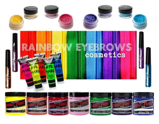 Rainbow Cosmetics by manic-panic-uk on Polyvore featuring beauty, Manic Panic and Haze