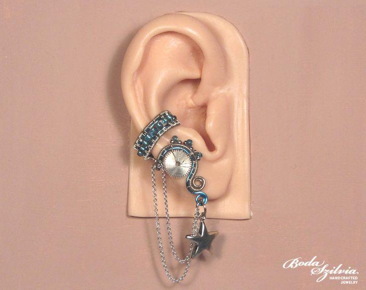 Frost steampunk ear cuff by bodaszilvia
