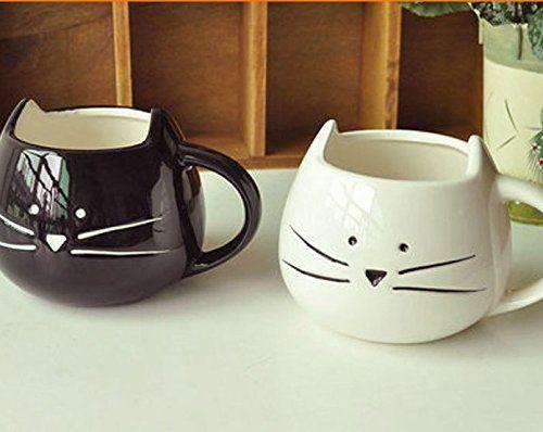 2 pz chat noir et blanc, café et lait de noël et de cadeau d'anniversaire à verre céramique verre 300 ml- cat coupe (chat/FR) Monicaxin http://www.amazon.fr/dp/B016EICW8O/ref=cm_sw_r_pi_dp_XlcDwb05RNR1Z