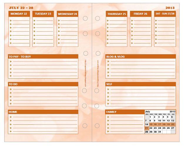 Filofax DIY inserts Free Download   Filofax   Pinterest ...