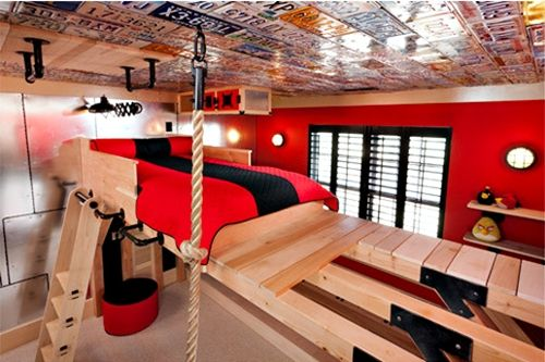 habitacion infantil original Stop! Dormitorio solo apto para escaladores