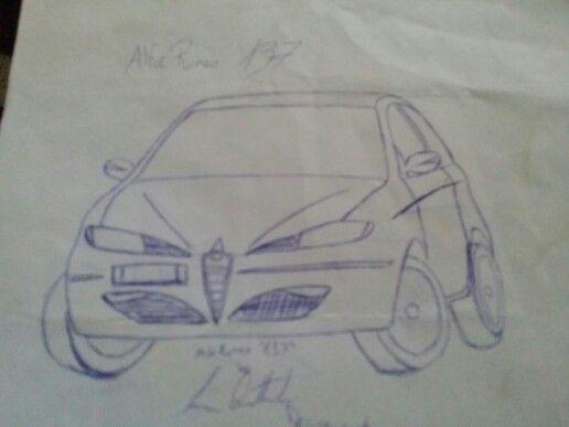 Bozza di disegno per un'utilitaria Alfa Romeo dei primi anni 2000 battezzata 137 a firma Luca Quattrocchi Design, per la Mito ci sono voluti altri 10 anni. Per essere un bozzetto a mano libera di un adolescente tutto sommato ritengo non sia male. #lukynix #alfaromeo #utilitaria #cardesign