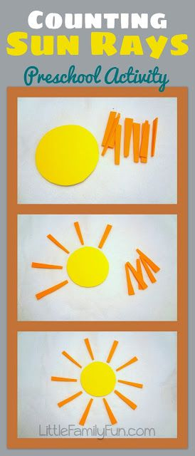 Little Family Fun: Counting Sun Rays - Preschool Activity