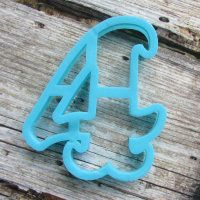 """Cookie cutter """" Number 4 """" 10 cm"""