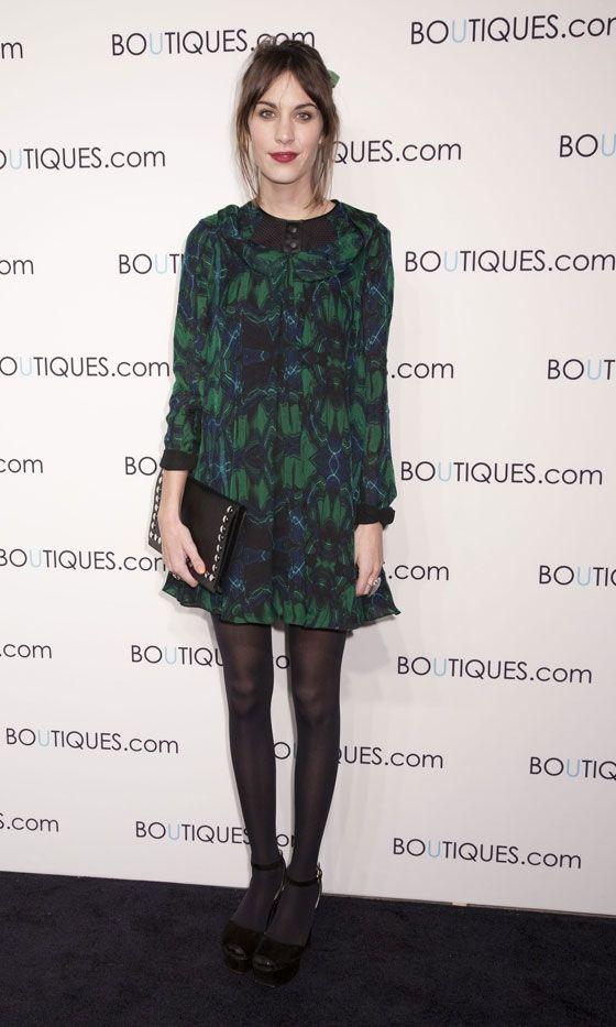 We Are Having Serious Dress Envy Over Alexa Chung's Proenza Schouler Mini, November 2010