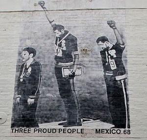 Black Power - Olympics Mexico '68    http://es.wikipedia.org/wiki/Saludo_del_Poder_Negro_en_los_Juegos_Ol%C3%ADmpicos_de_1968