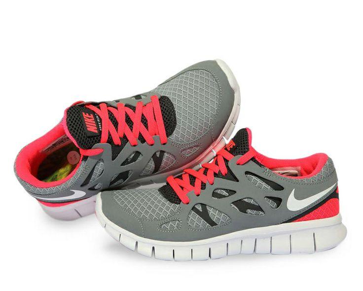 Mujer Free Run 2 Zapatillas Gris Rojo · Nike ...