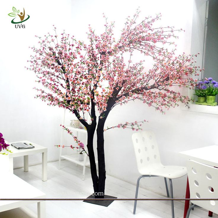 UVG Indoor artificial peach blossom tree with pink flowers for restaurant decoration;    Contact Person: Janice Jiang Mobile : 0086 132 6684 7319 E-mail: sales@uvgift.com Skype: uvgdecor Whatsapp:  0086 13266847319   UVG Homepage:    http://www.uvgift.com    ------------------------------------------------------------------------------------------------------- UVG Technology Co.Ltd