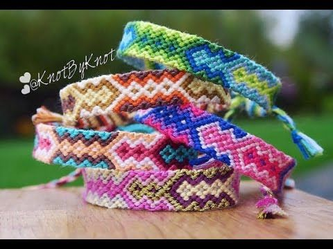 DIY Aztec Friendship bracelet step by step, handmade, how to make