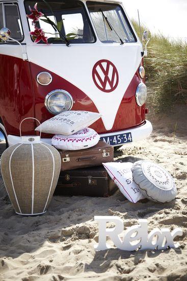 Relax. VW Red Bus. Riverdale accessoires verkrijgbaar bij | Living for All