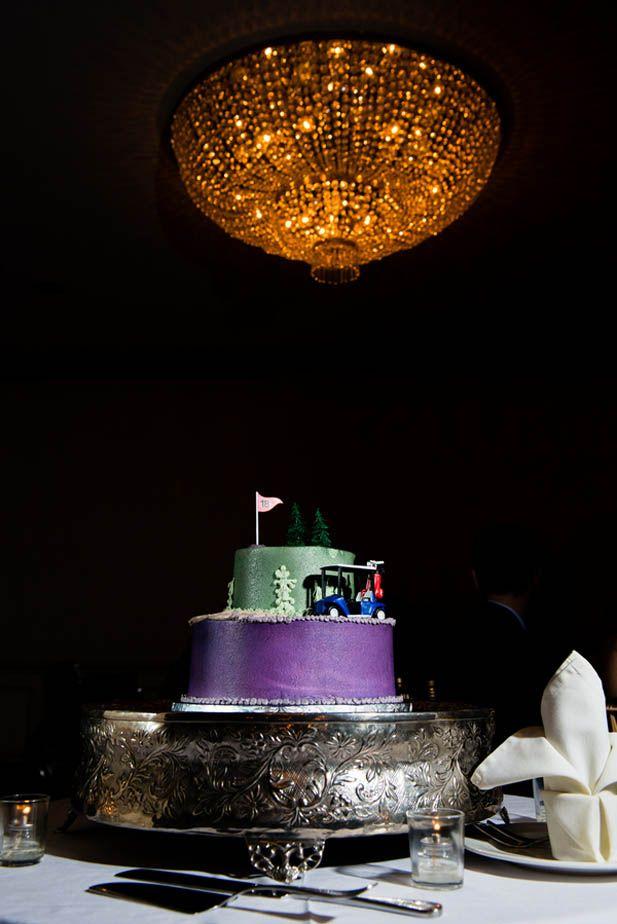 Golf themed groom's cake