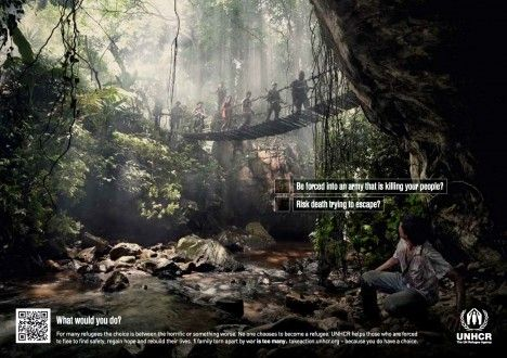 UNHCR: No one chooses to be a refugee: Ad Ngo, Campaign Ads, Print Ads, Social Ads, Awarness Campaign, Advertising Budgets, Ads Collection, Social Change