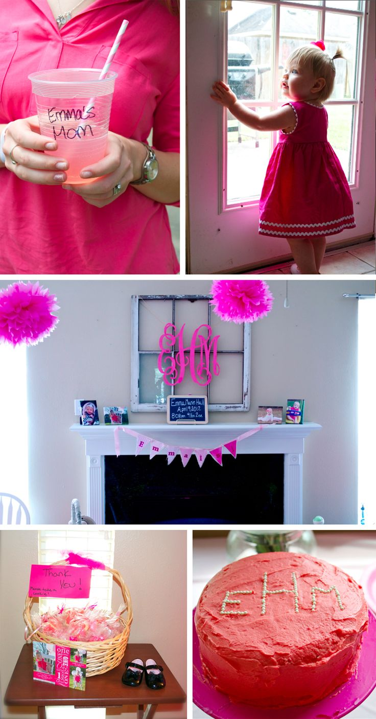 Adorable #pink and #frilly 1st #birthday party for a little girl!!!