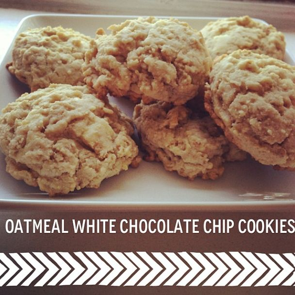 Oatmeal White Chocolate Chip Cookies | Sweet Spot | Pinterest
