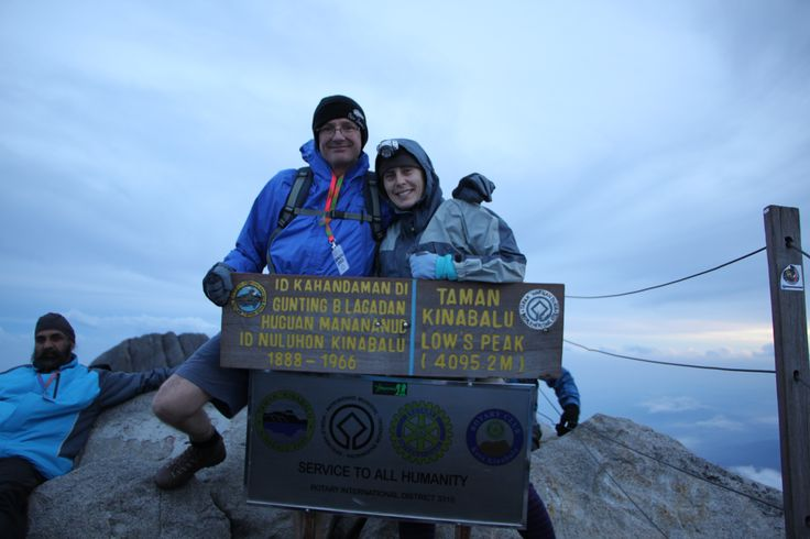 At the summit, Mount Kinabalu