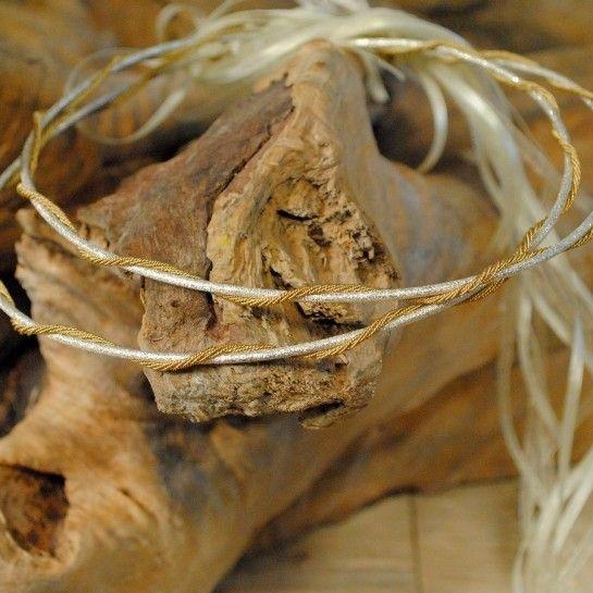 Ασημένια Στέφανα Γάμου Δίχρωμα Με Λεπτομέρεια Επιχρυσωμένη…