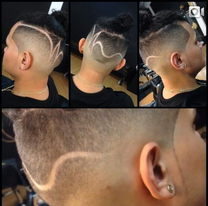 hair designs for fades - photo #49