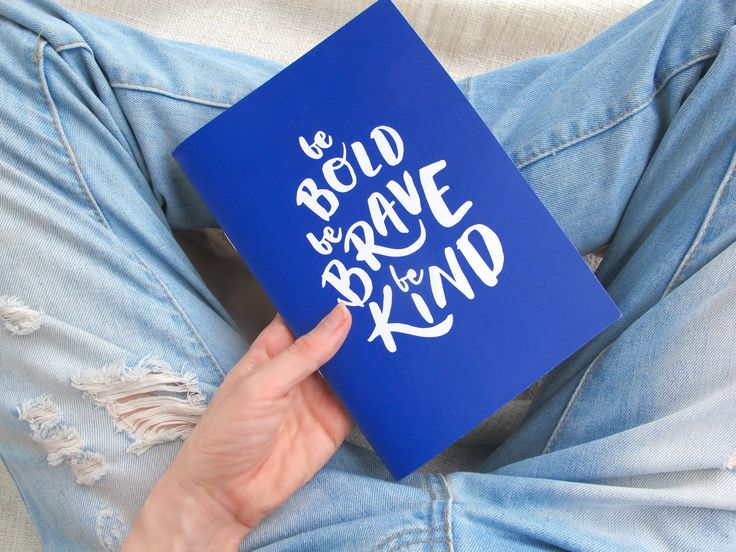 WORDS WITH HEART | Be Bold Notebook //  social. good. notebook. stationary. girls. enterprise. made in australia. recycled. eco-friendly. impact. education for girls.
