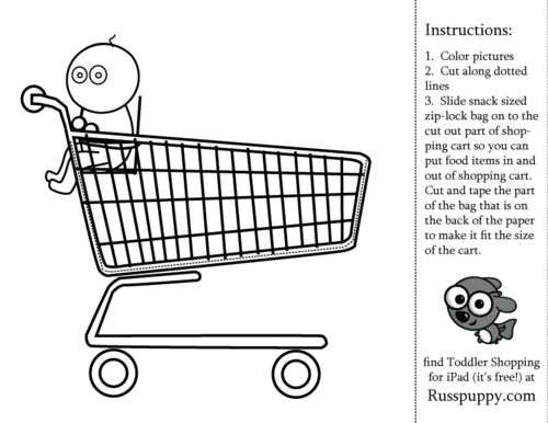 Fun Free Coloring Pages Shopping Activity For Kids Great Playschool Or Preschool