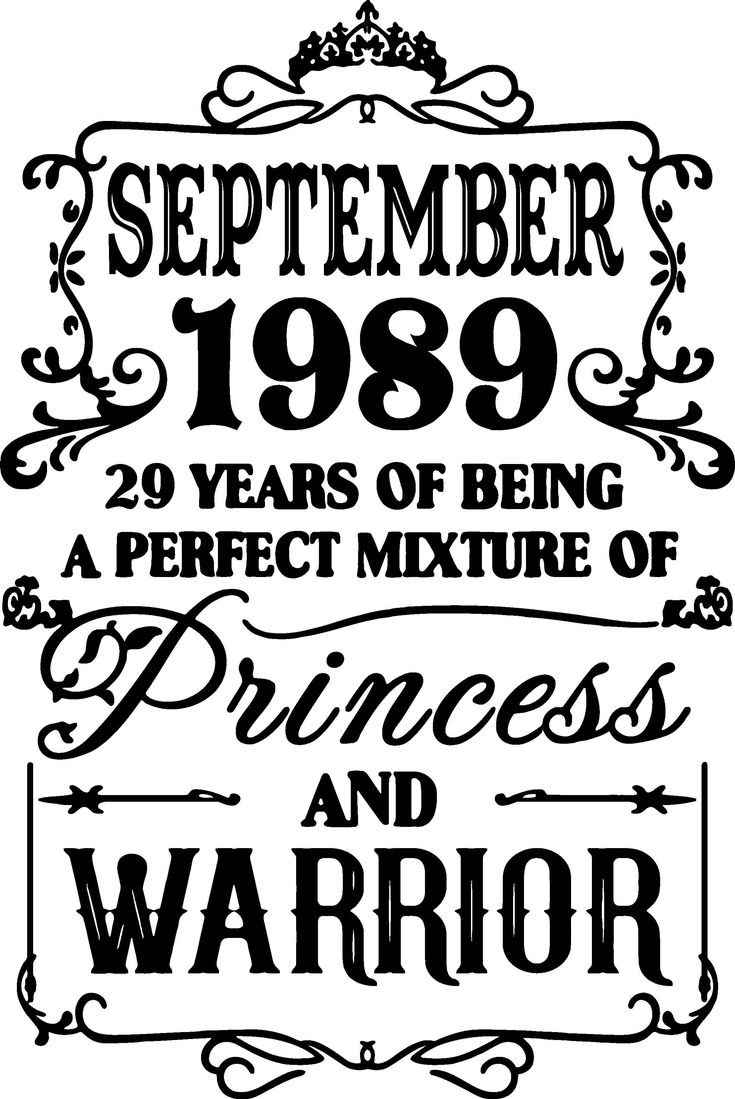 September 1989 years of being a perfect mixture of