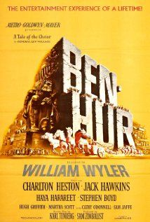 Ben-Hur is a movie from 1959, directed by William Wyler. It is based on a book by Lew Wallace, and the screenplay for the movie was written by Karl Tunberg. Ben-Hur is about a Jewish prince that is betrayed and sent into slavery by his Roman friend. He then regains his freedom, and is out for revenge.