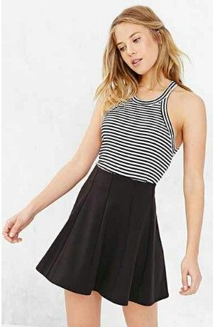 Urban Outfitter skirt but really cute outfit