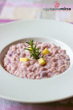 risotto al cavolfiore rosa mantecato con caciotta morbida