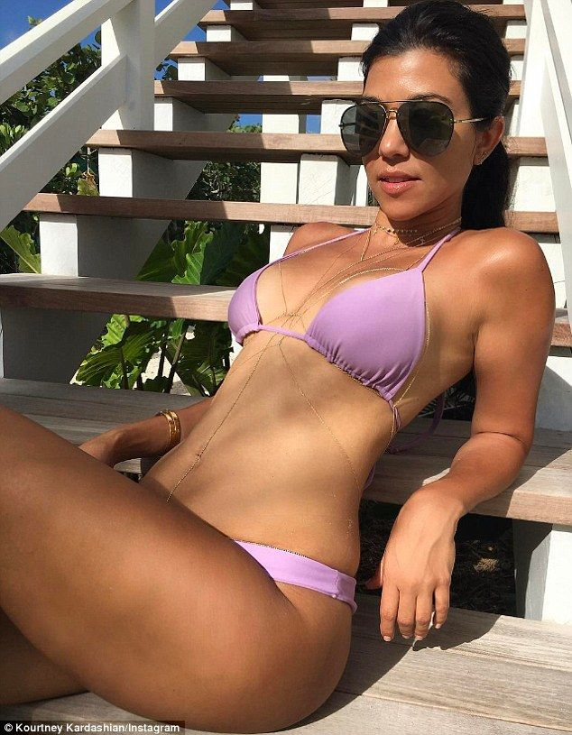 Hot mama! Kourtney Kardashianflaunted her flawless bikini body in a series of Instagram posts chronicling her travels from the Bahamas on Thursday