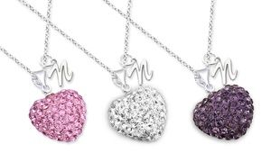 Groupon - Kid's Crystal Heart Necklace with Initials from Monogram Online…