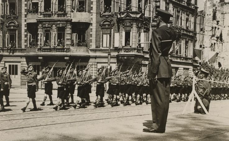 "https://flic.kr/p/qR8gMg | Victory Parade, Bremerhaven | The Black Watch march past Lt-General Horracks, Corps Comdr takes the salute. Dad was watching from houses opposite.  ""Spruced up and kilted out, the 51st. Highland Division formally marked the end of the European War with an impressive Victory Parade at Bremerhaven on 12th. May, 1945 with XXX Corps Commander, Lt. General Horrocks, taking the Salute. Lead by the Massed Pipes and Drums, representatives of all Units and Supporting Arms…"