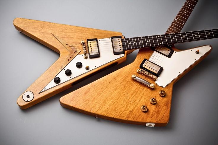 59 korina flying v and 59 korina explorer dave 39 s guitar shop collectible guitars guitar. Black Bedroom Furniture Sets. Home Design Ideas