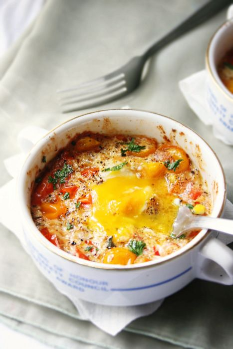Baked Eggs and Tomatoes