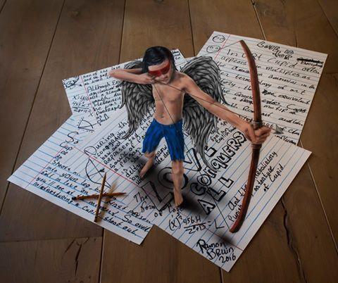 """Dessin 3D par RAMON BRUIN pour WAINAO 2eme enigme """"Quelque part dans le coeur"""""""