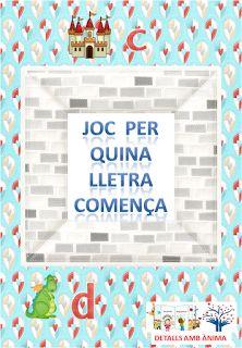 JOC PER QUINA LLETRA COMENÇA... - ST. JORDI. DETALLS AMB ÀNIMA