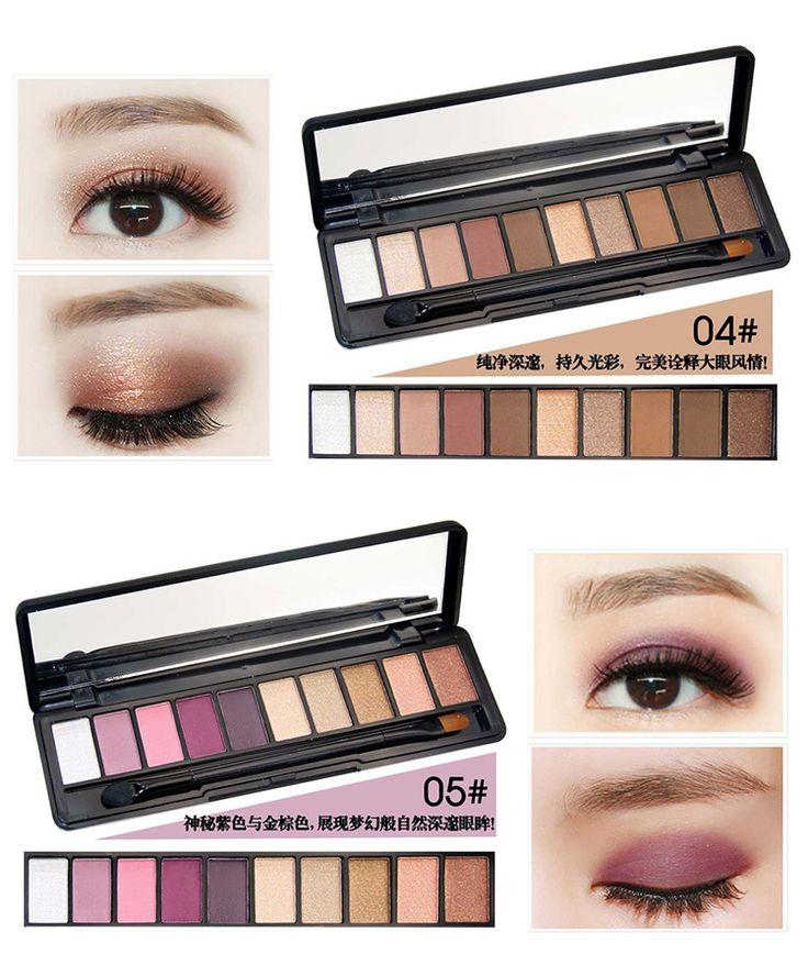 Подлинная Ново истинный цвет десять цвет теней для век палитра матовый макияж земля цвет 10 цвет shimmer тени для век этап макияжа-Таобао