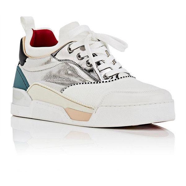 a264f667bbb Christian Louboutin Men s Aurelien Flat Mixed-Material Sneakers ...