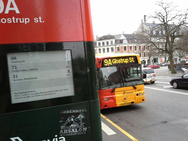 Movia busstops in Denmark are fitted with ePaper displays by MultiQ - powered by MpicoSys displays - PicoSign Busstop Information #e ink  #eink  #epaper #epapersignage