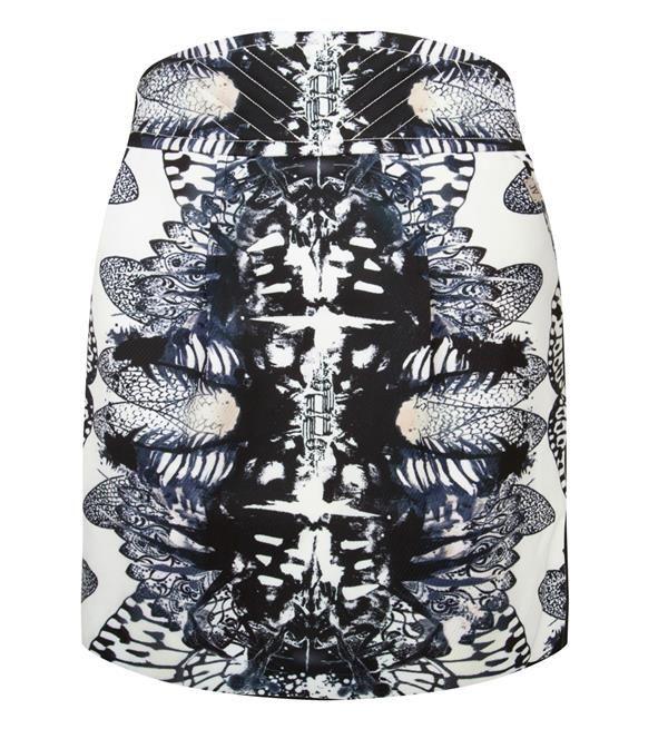 Josh V Yana rok met all over print. Mini rok in een stevige kwaliteit met een high waist. Tulp model. Geheel voorzien van voering.