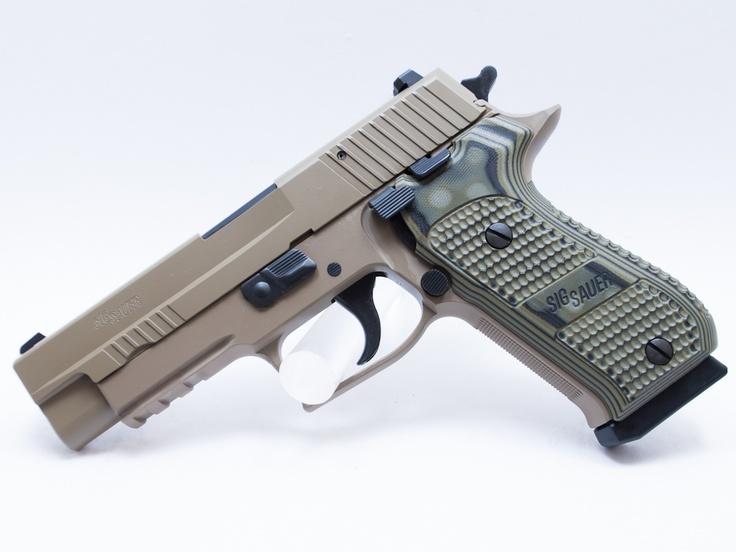 Sig Sauer pistol in tan Find our speedloader now!  http://www.amazon.com/shops/raeind