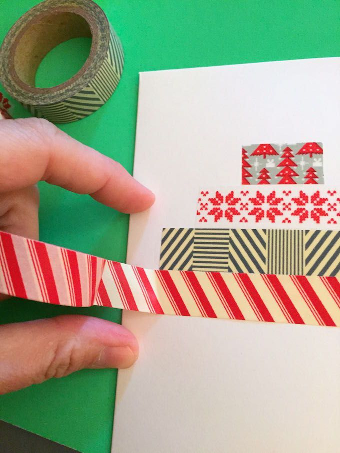 Card Making Ideas Using Washi Tape Part - 47: How To Make A Washi Tape Card In Five Minutes