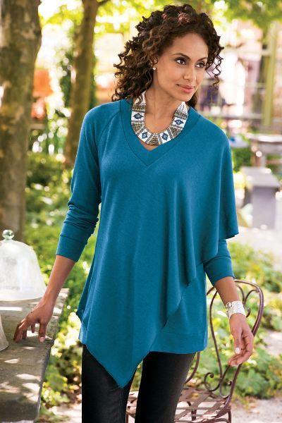 Madison Tunic - Jersey Knit Tunic, Jersey Knit Tunic Top | Soft Surroundings