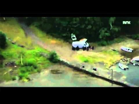 UTØYA MASSACRE - Helicopter Footage During The Shooting