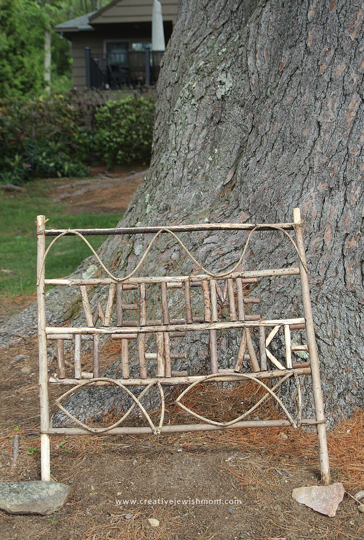 Adirondack Style Twig Sign Craft: Perfect For Summer Camp Or Staycation!